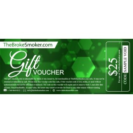 $25 Dollar Gift Voucher for TheBrokeSmoker.com
