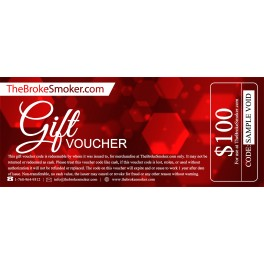 $100 Dollar Gift Voucher for TheBrokeSmoker.com