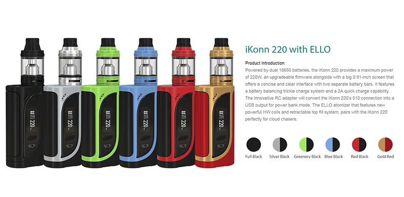 iKONN 220 ALL 6 Colors Introduction