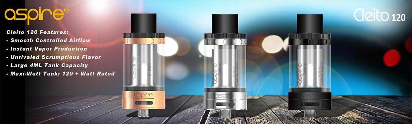 Cleito 120 Tank by Aspire - buy now from TheBrokeSmoker.com