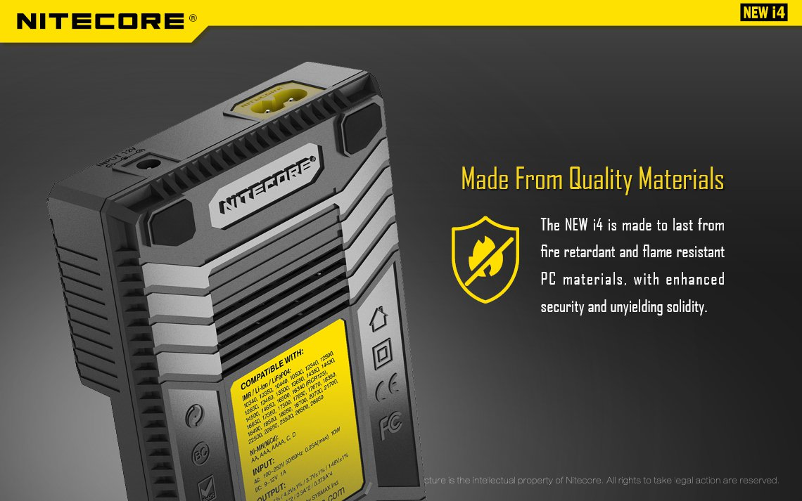 NEW i4 Intellicharger NITECORE buy now from TheBrokeSmoker.com