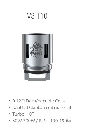 V8-T10 Coil for TFV8 Beast Tank by SMOK buy now from TheBrokeSmoker.com