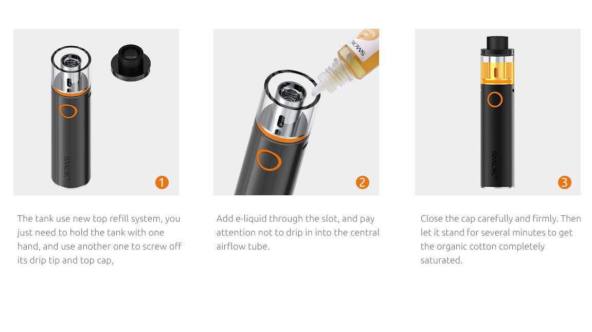 Vape Pen22 by TOP-CAP SMOK Filling Design